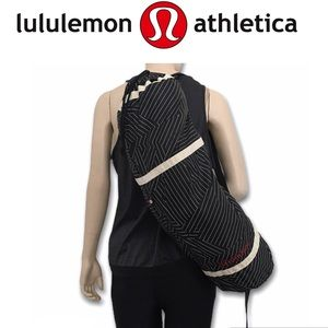 Lululemon Yoga bag Black w/Red Embroidered letters